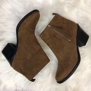 H&M Faux Suede Block Heel Ankle Booties *NWOT